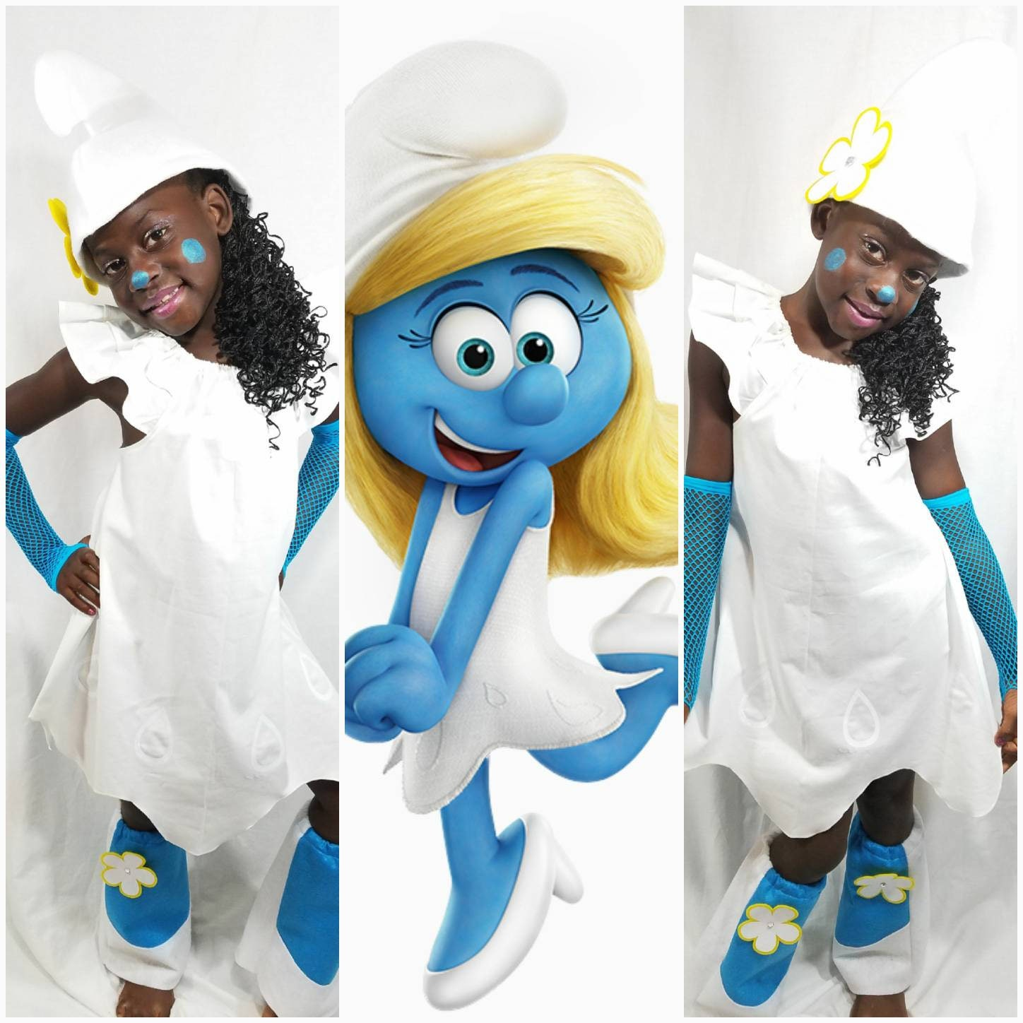 Smurfette Dress Hat Boot Covers and Sleeves Gloves Adult and  3e3b631e8