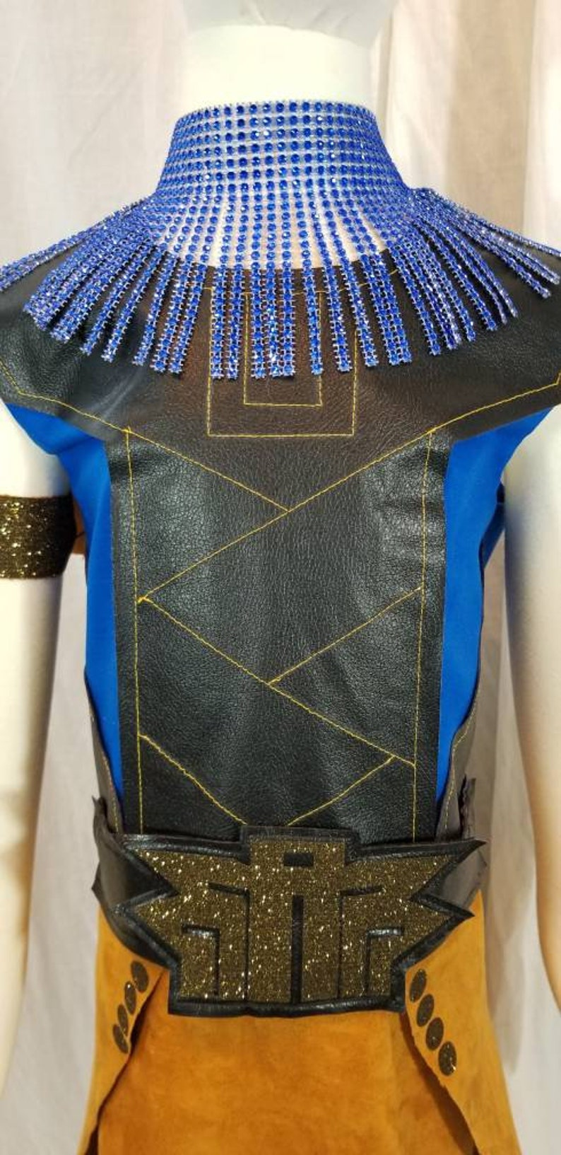 Princess Shuri Inspired Costume Dress Necklace Arm Cuffs Belt GirlsWomen/'sPlus sz avail