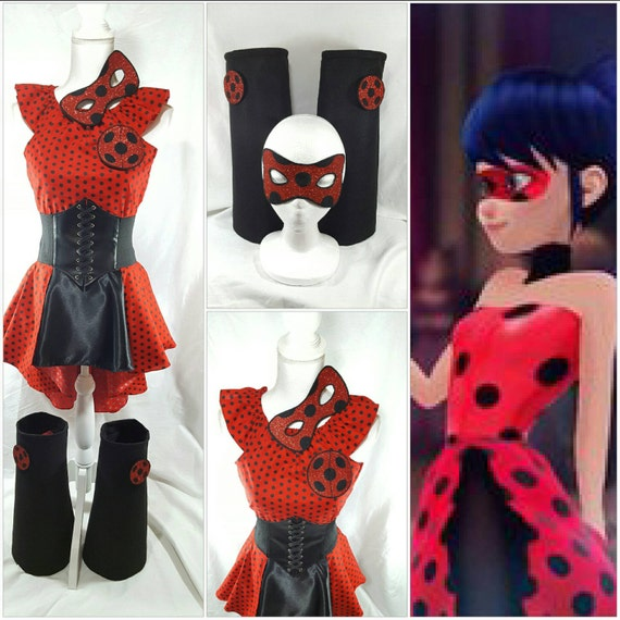 Miraculous Ladybug Marinette Top High Low Skirt Waist Etsy