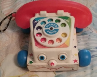 Fisher Price Phone Pull Toy 1961, 747 Excellent Condition