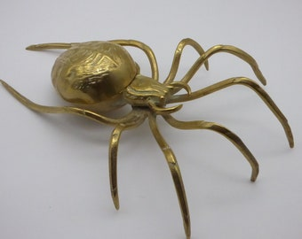 Brass and Amber figurine Spider,rare,very detailed item,collectable