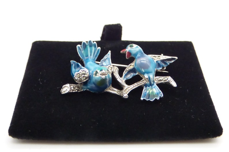 Statement Enamel Love Birds for someone special.