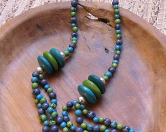 Colorful Bohemian inspired necklace