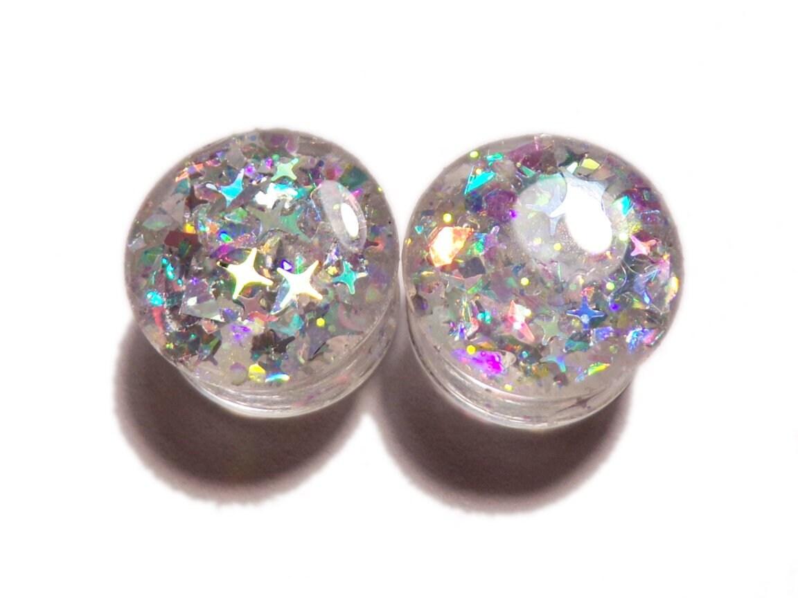 Bright Nebula Ear Plugs - Ear Tunnels - Choose your size
