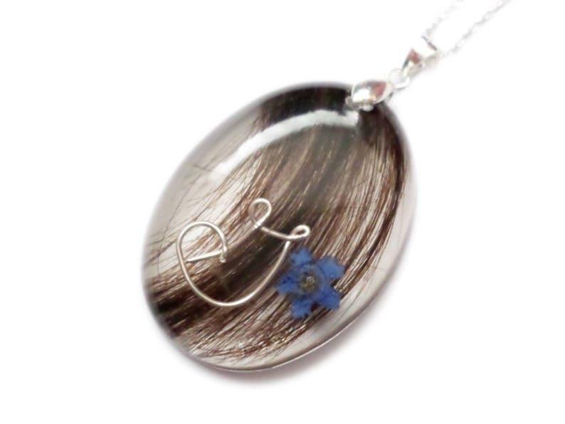 Locket Pet Fur or Hair Baby Hair Memorial- ValenwoodVixen LARGE OVAL Custom Hair Lock Resin Keepsake Pendant Personalized- Mothers