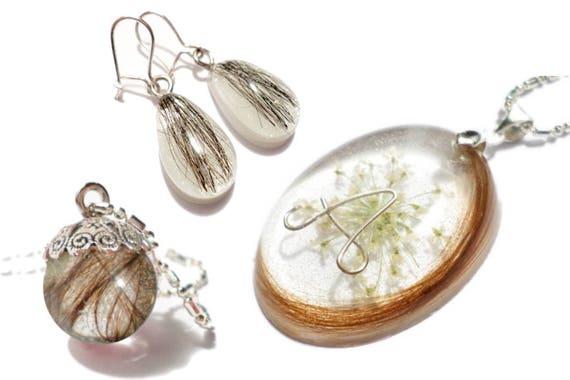 personalised hair keepsake hair jewellery keepsake bead hair locket mom gift, keepsake jewelry memorial pendant loved ones hair
