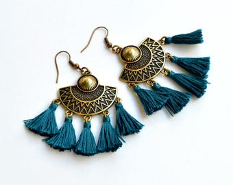 Ethnic Boho Dangles|Tassel Boho Earrings|Gypsy Earrings|Hippie Earrings|Tassels Earrings|Amazing Earrings|Boho Earrings|Gift for Her