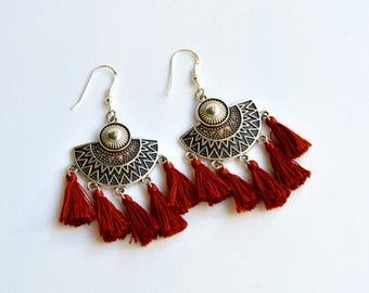 Tassel Boho Earrings|Boho Earrings|Gypsy Earrings|Hippie Earrings|Tassels Earrings|Amazing Earrings|Chandelier Earrings|Gift for Her
