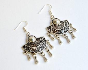 Ethnic Boho Dangles|Boho Earrings|Gypsy Earrings|Hippie Earrings|Boho Gypsy Earrings|Amazing Earrings|Chandelier Earrings|Gift for Her