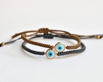 Ivory Evil Eye Bracelets|Knotted Bracelet|Good Luck Eye|Good Luck Bracelet|Evil Eye Jewelry|Minimal Bracelets|Everyday Bracelet|Evil Eye