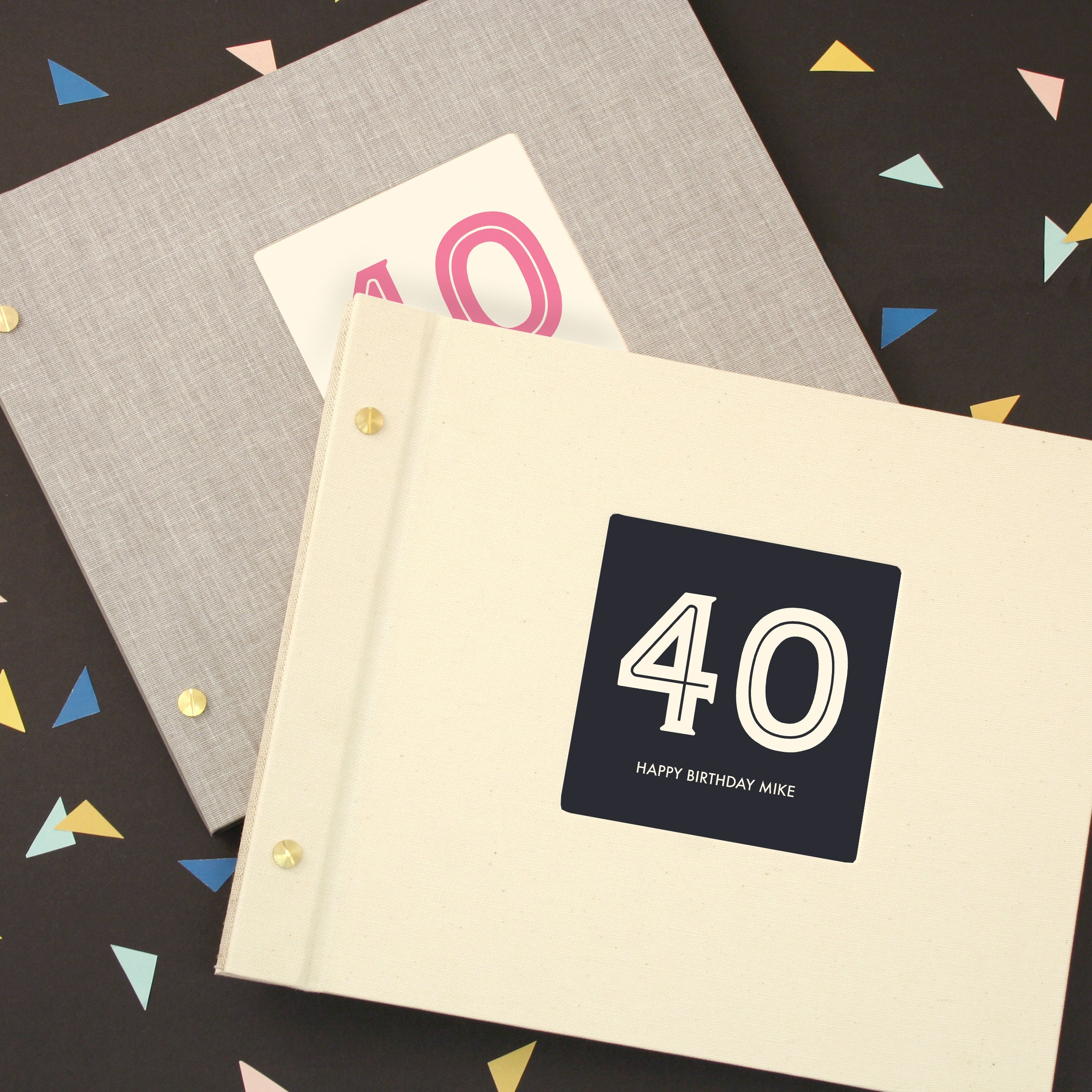 Personalised Typographic 40th Birthday Photo Album