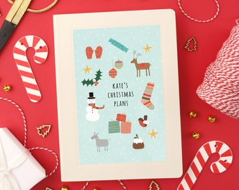 Personalised Christmas Plans Notebook