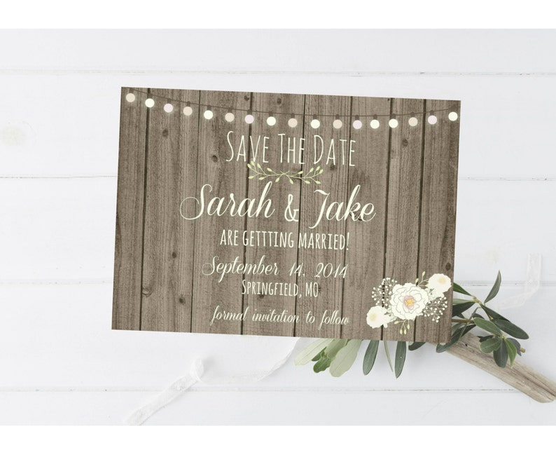 Photo Save The Date Flower Save The Date Country Save The Date Wood Save The Date Magnet or Card DIY PRINTABLE Digital File or Print extra