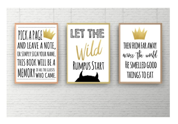 Instant Download Where The Wild Things Are Treat Bag Printable Wild One Birthday Party Printable Wild Thing Baby Shower Favor