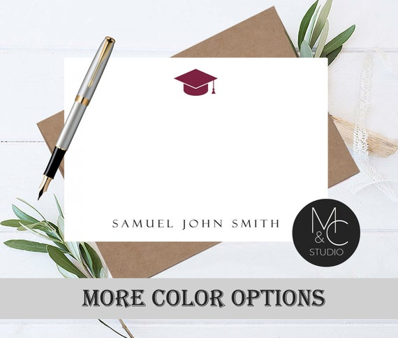 Personalized Graduation Thank You Cards Graduation Note Cards
