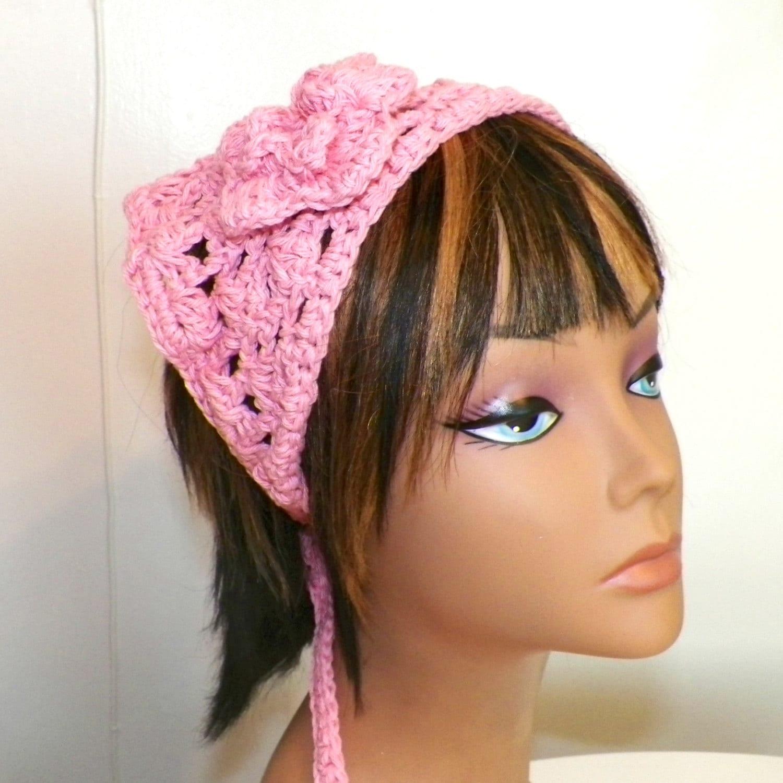 Cotton Pink Hippie Hair Bandana Kerchief Triangle Head Scarf  750e2fa7123