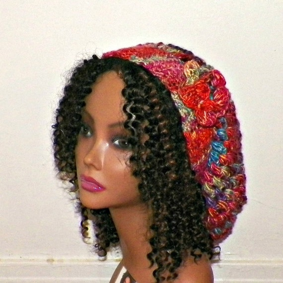 06b062728af Rasta Slouchy Hat Tam Rasta Womens Chunky Winter Crochet