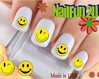 Emoji Nail Stickers Etsy