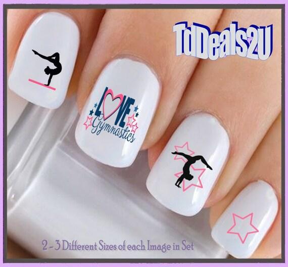 Sports Nail Decals Gymnast 2 Love Gymnastics Nail Etsy