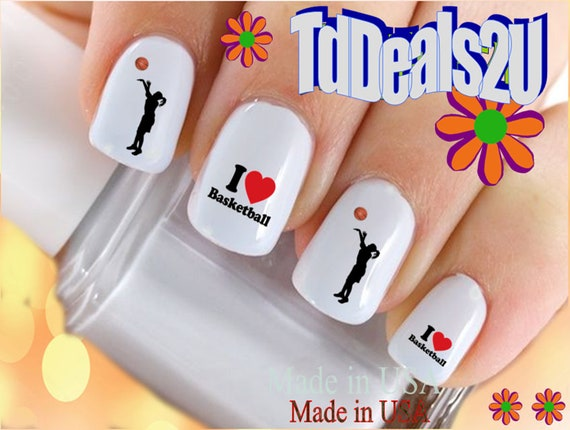 - SPORTS Nail Decals I Love Basketball GIRL Player Etsy