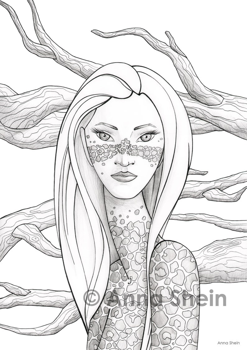 photograph regarding Printable Adult Coloring Pages Pdf referred to as Grownup Coloring Web pages - Leopard - Printable Coloring Internet pages, PDF Colouring Internet pages, Coloring Web pages Electronic Obtain, Coloring PDF, Female Coloring