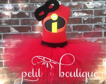 Incredibles Costume or Birthday Tutu set Violet any size available 12m to 14/16y