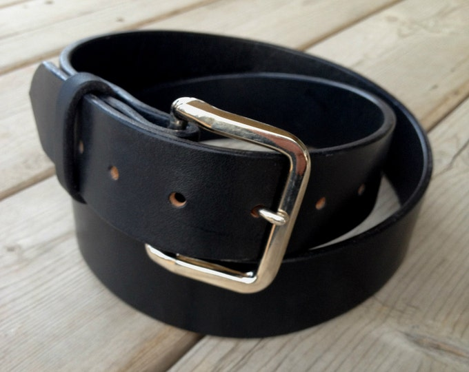 Featured listing image: Tough Leather Belt, Thick belt, long lasting belt, High Quality Leather belt, Full grain leather belt, simple leather belt