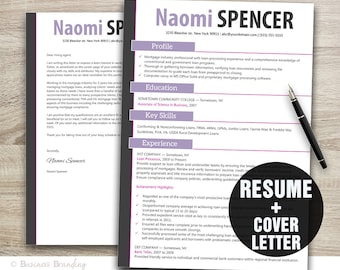 teacher resume template word cover letter template instant etsy