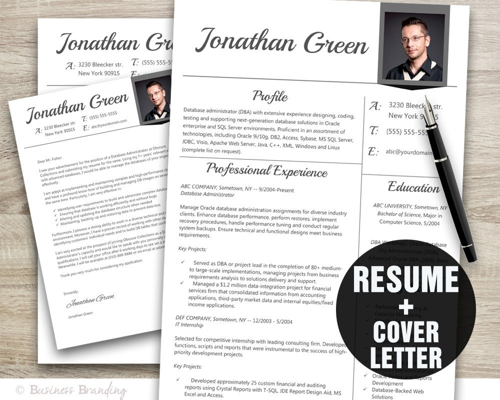 resume template resume cover letter template instant