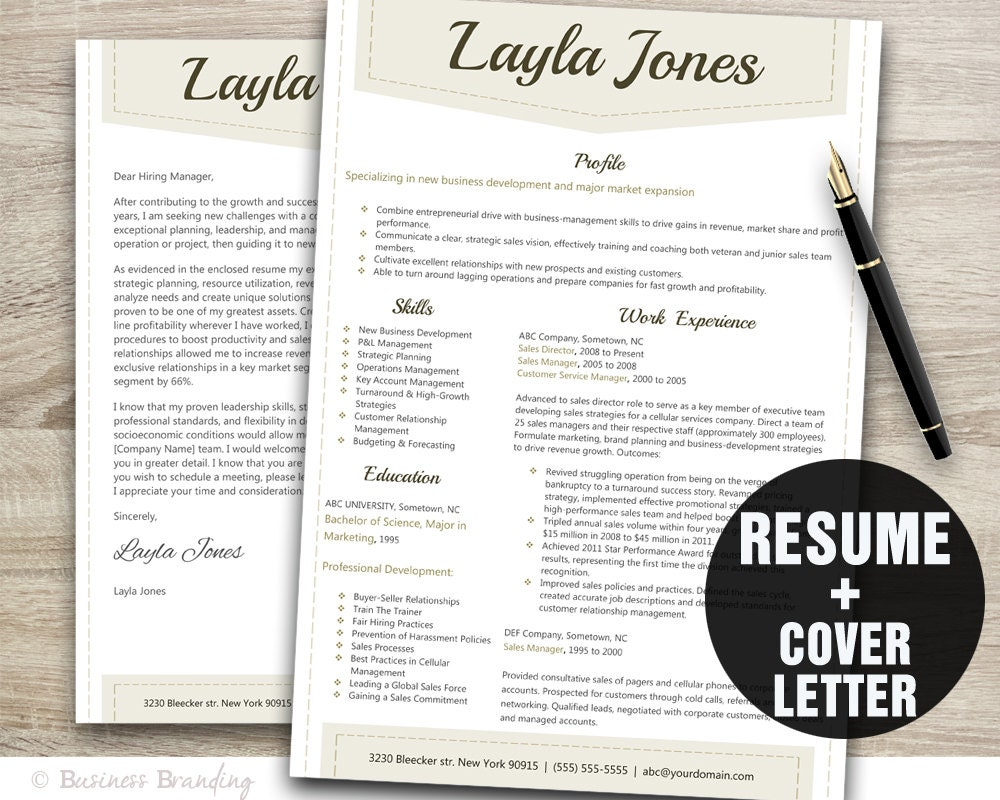 classy resume template design instant download resume design