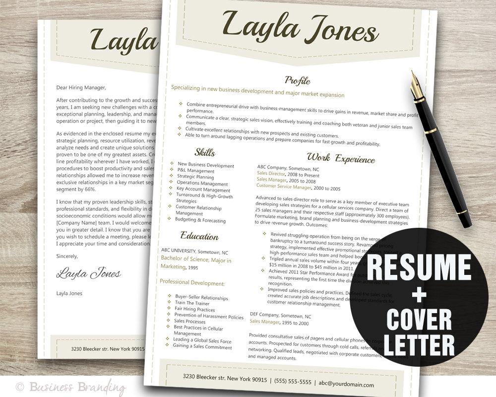 classy resume template design instant download resume design