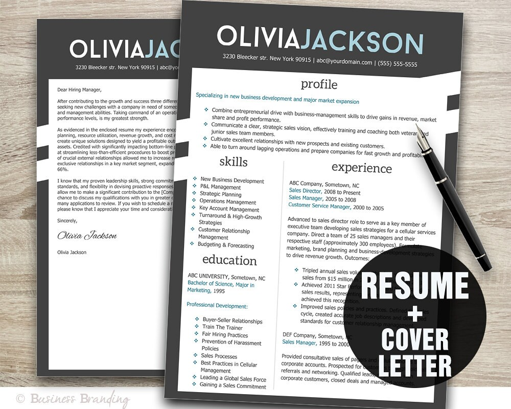 resume cover letter template resume template cv template