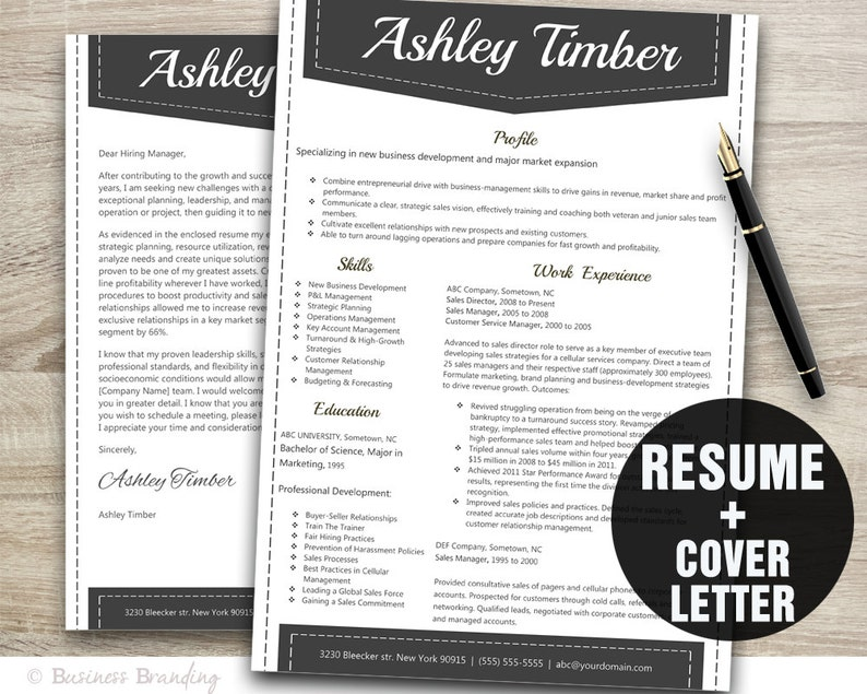 Creative Resume Template Resume Download Teacher Resume Template CV Template Instant Download Resume Cover Letter Template