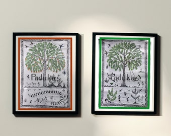 The Warli Tree Art (Help us donate more trees by buying our Art digitally)