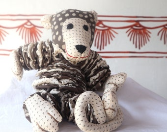Monkey Soft Toy Yo-Yo's Children Hand made One of a Kind kids gift Multi colour Kids toy padukas product Handmade