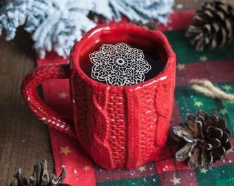 "12 Sugar Doilies 2.5"" Edible Anastasia Doily Tea Doilies Coffee Doilies Christmas Gift Holidays Winter Xmas Stocking Stuffer"