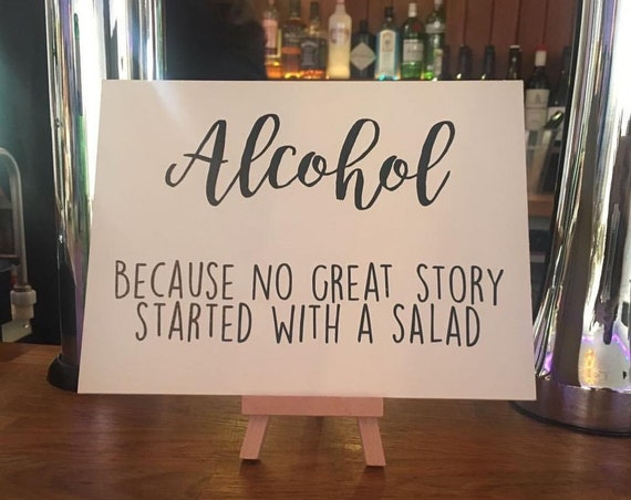 no good love story started with a salad..