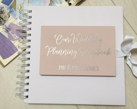 Personalised wedding scrapbook