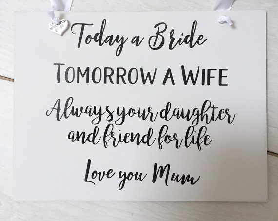Today a bride, tomorrow a wife
