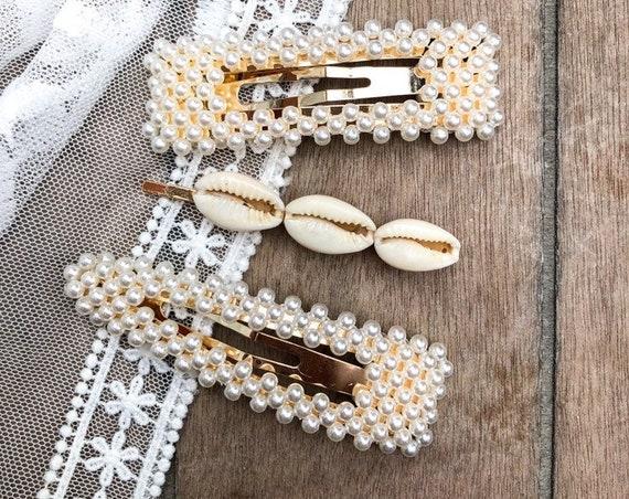 square pearl clip