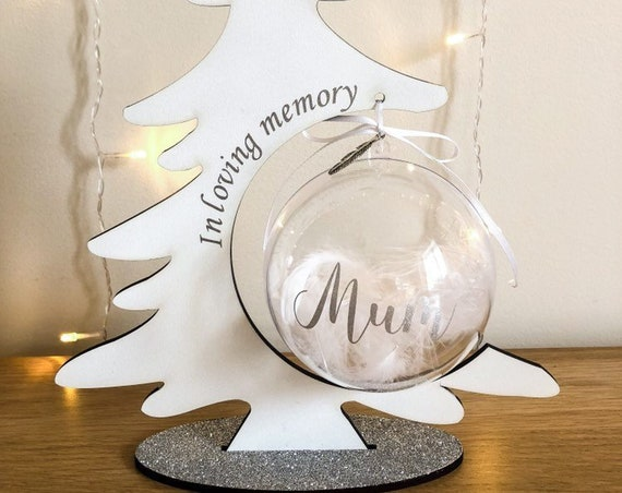 In loving memory bauble and stand