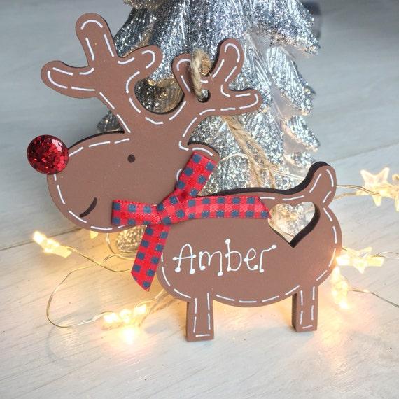 Personalised reindeer hanger