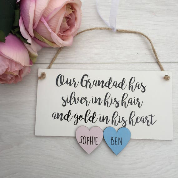 grandad sign from grand kids, christmas gift for grandad, personalised grandad gift from grandchildren