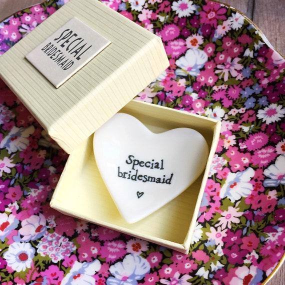 Special bridesmaid trinket dish