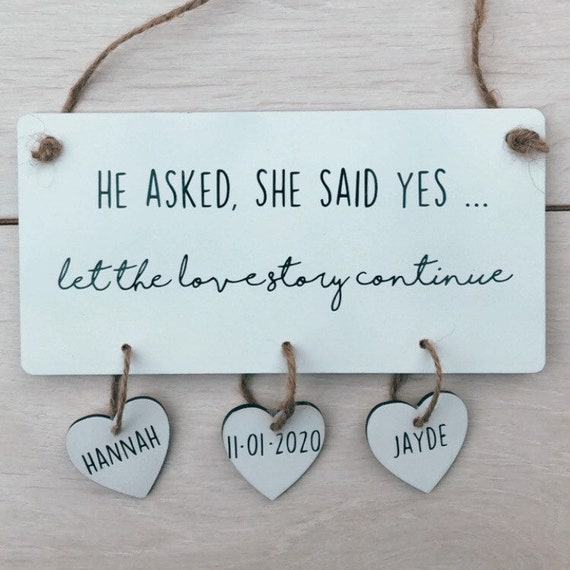 He asked, she said yes.