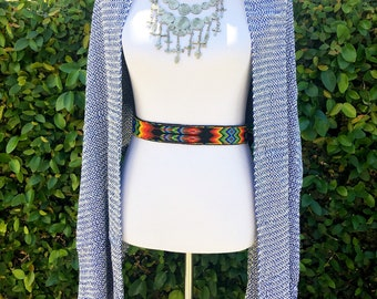 Gorgeous Hand-Woven Eco Dyed Shawl