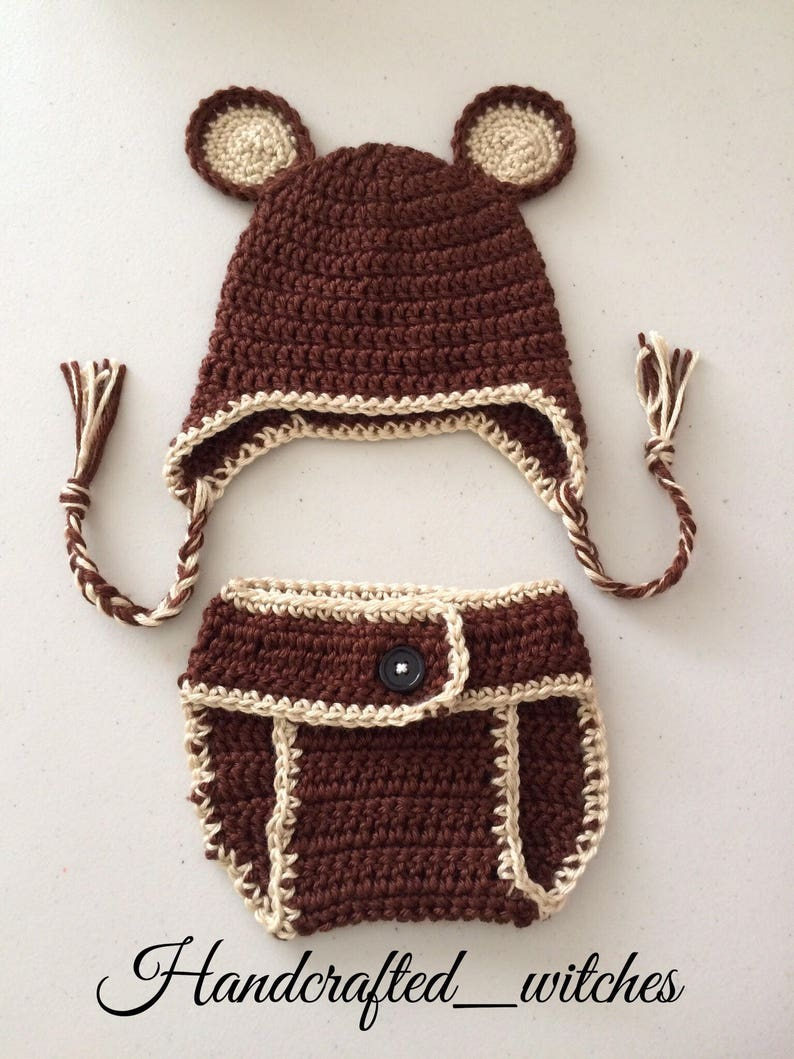 bd02ec5895b Handmade baby monkey outfit Crochet monkey costume for