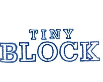 alphabet block font font block letters for embroidery machine outline font instant download tiny block alphabet tiny letters