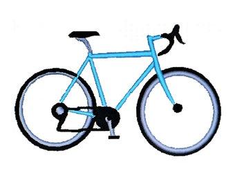 Bike Digital Download - Digital Bicycle Machine Embroidery - 10 Speed Bike - Ten Speed Bicycle - INSTANT DOWNLOAD Bike Design - Two Sizes