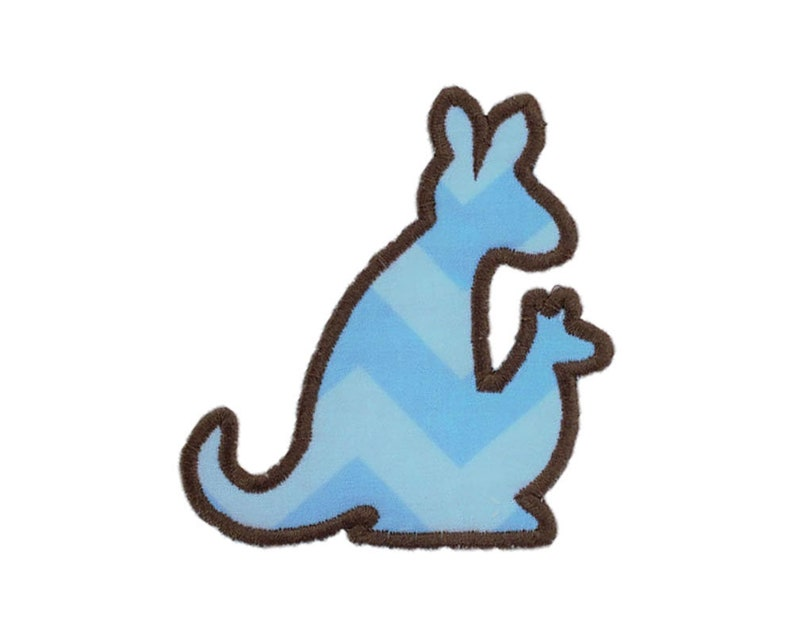 Kangaroo Digital Applique Baby Embroidery Download Etsy